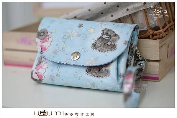 藍色小熊摺疊零錢包1