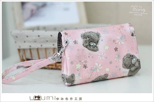 粉色小熊摺疊零錢包2