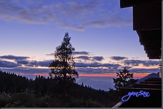 阿里山夕陽