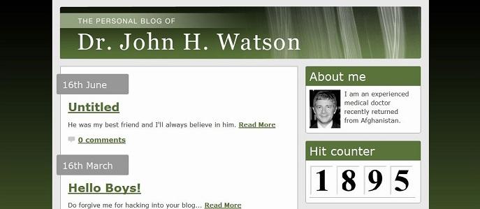 Dr John Waston's Blog01