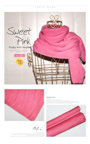 讓我怨念很深的圍巾_Sweet pink