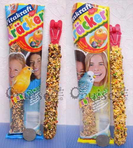 德國-Vitakraft-金絲雀及雀科棒棒糖水果_小型鸚鵡棒棒糖水果