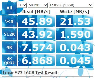 lexar s73 16g 速度