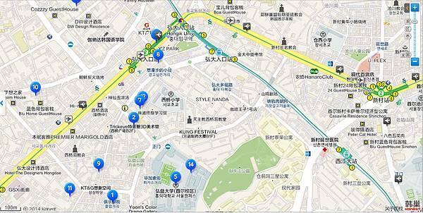 弘大站Map