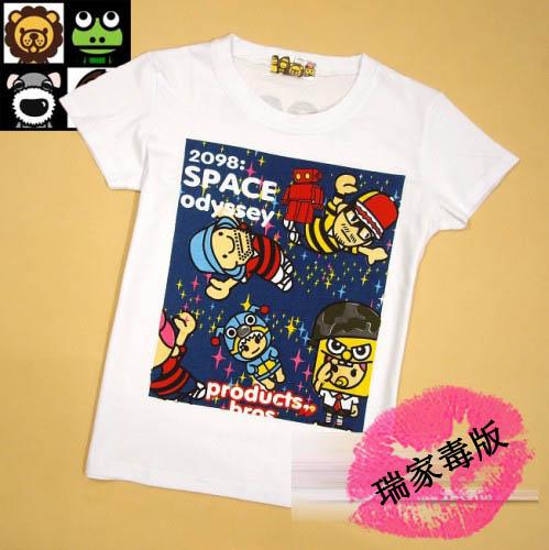 ★香港BBR★太空漫步机器人 双面印花 纯棉女装T恤  RM18