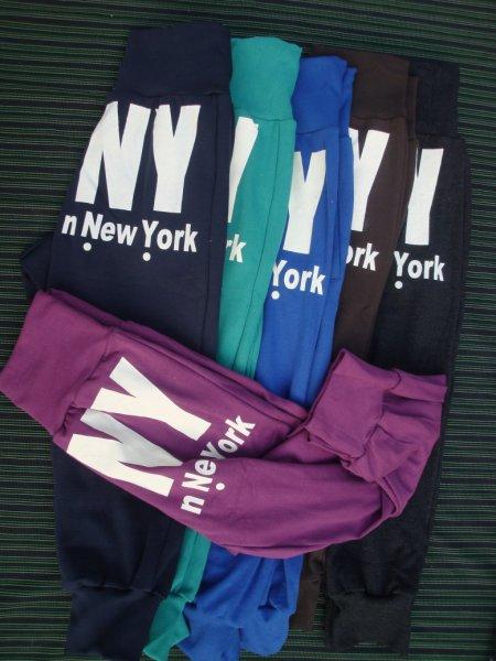 超人气*★DKNY 垮裤/掉档裤 系带宽松运动休闲5分裤 RM28 (紫色,深蓝)