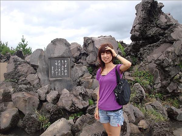 風很大的櫻島