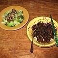 03/12/2008炸醬麵和青江菜