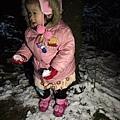 小乖才2歲就可以在台北看到雪了