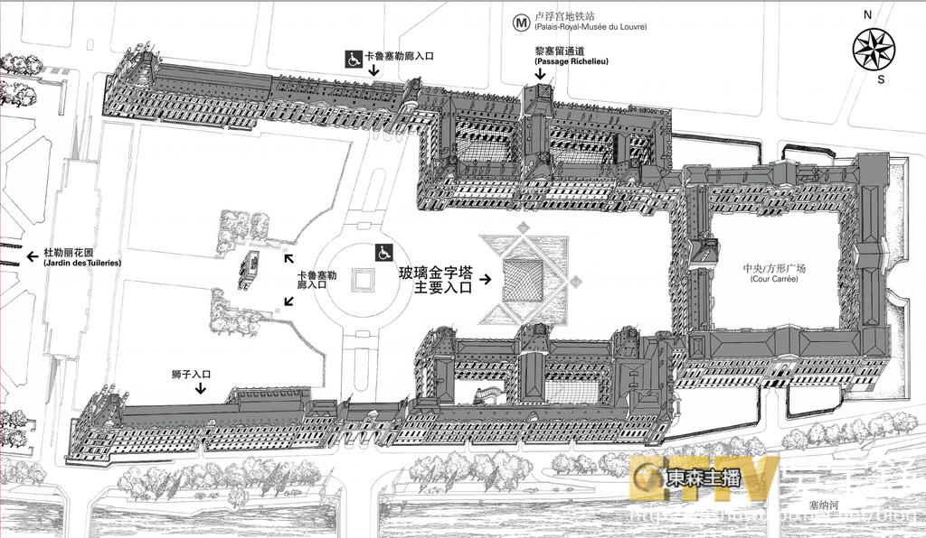 羅浮宮地圖