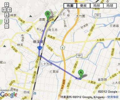 玉田小棧距離川湯春天飯店前開車只要12分鐘