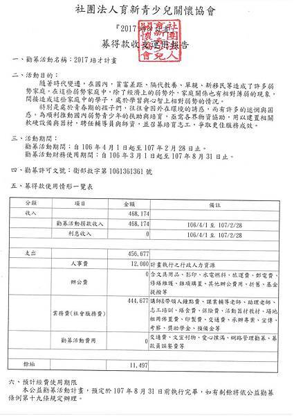 2017培才計畫募得款收支運用一覽表20180228  掃描