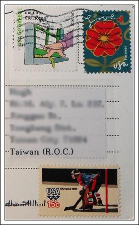 收到的明信片NO.44-Stamp