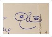收到的明信片NO.45-可愛笑臉