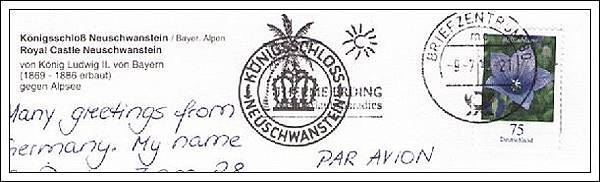 收到的明信片NO.54-Stamp