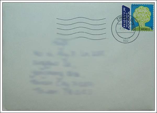 收到的明信片NO.57-信封