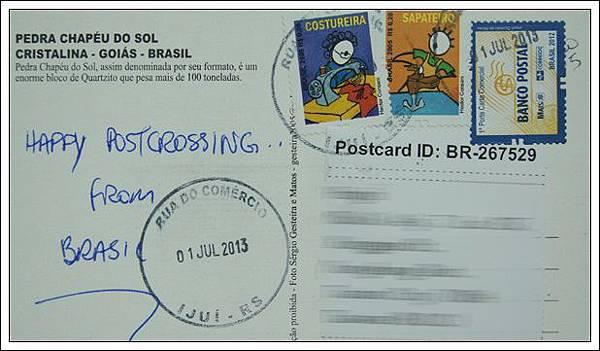 收到的明信片NO.61-Stamp