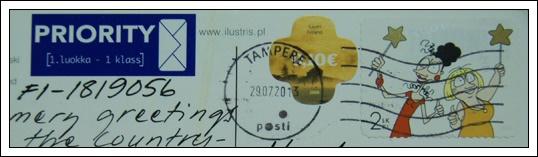 收到的明信片NO.62-Stamp