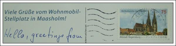 收到的明信片NO.63-Stamp