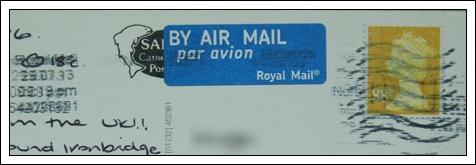 收到的明信片NO.65-Stamp
