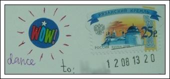 收到的明信片NO.70-Stamp