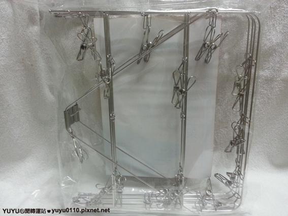 【OMORY】不鏽鋼長形摺疊曬衣架(26夾)3