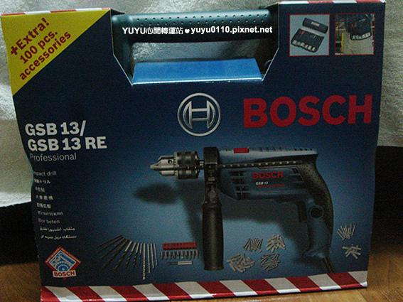 BOSCH GSB13RE VP四分震動電鑽組(含100pcs配件)1