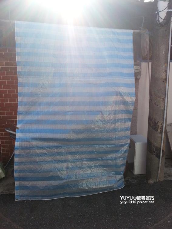PE藍白防水帆布16