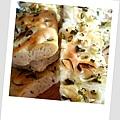 雙蔥佛卡夏麵包