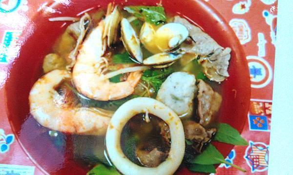 酸辣海鮮牛肉湯