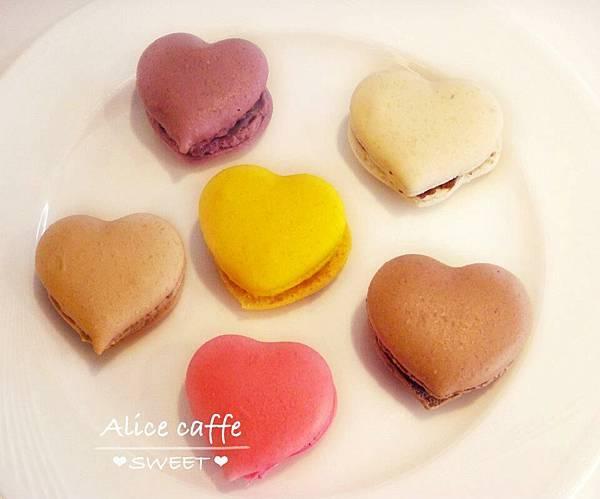 愛麗絲咖啡店-愛心瑪卡龍