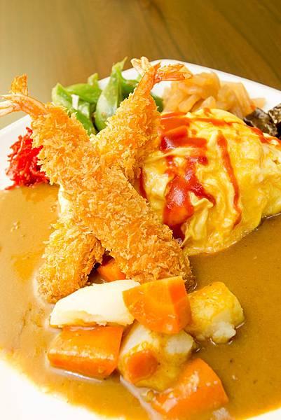 炸蝦咖哩蛋包飯
