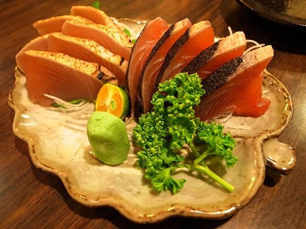 鰹魚、小鮪魚生魚片