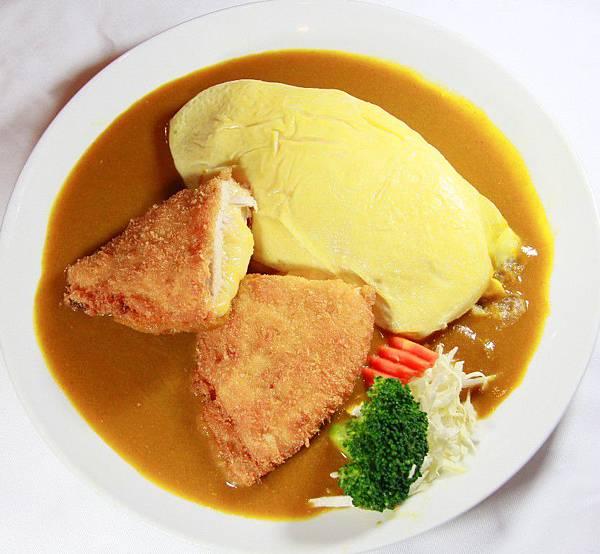 咖哩嘎嘎食堂-起士雞咖哩蛋包飯