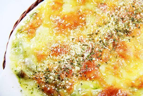 毛利醬醬 義式Pasta - 青醬培根野菇飯