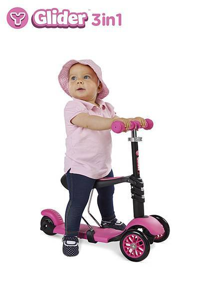 Y Glider 3n1 pink stage 1 girl