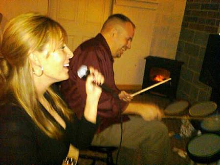 My wife and friend jay rocking out on new years eve.jpg