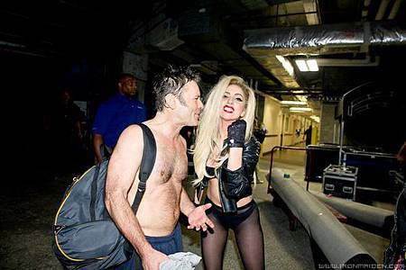 Bruce Dickinson & Lady Gaga 17th April 2011.jpg