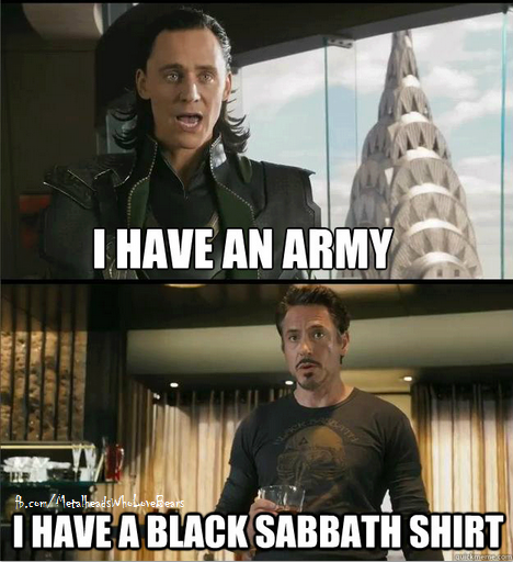 Tony Stark and Black Sabbath