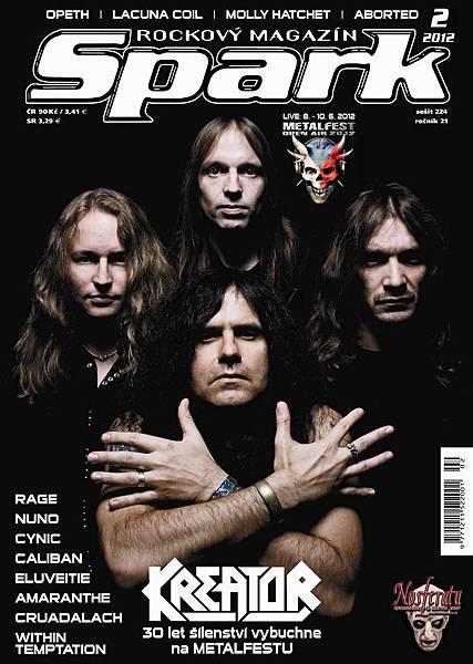 Kreator on Rockový magazín Spark February 2012 Cover.jpg