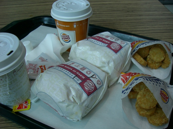 001出發前Burger King 早餐.JPG