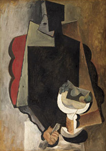 Man with fruit bowl