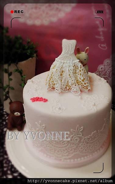 翻糖蕾絲蛋糕