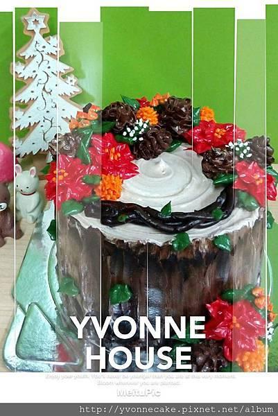 聖誕饗宴-奶油霜樹幹蛋糕