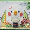 跟著小雞去野餐立體鮮奶油蛋糕