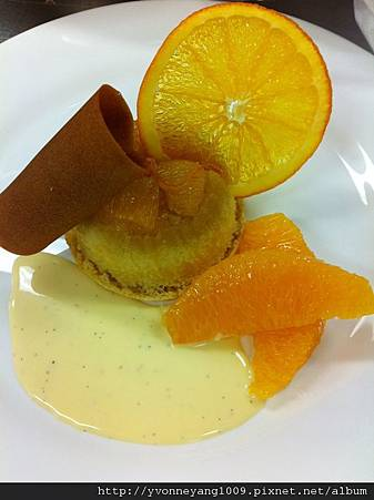 Day23- My Gateau pouding a l'orange amandes et sirop de lane- Golden orange and almond sponge pudding.jpg