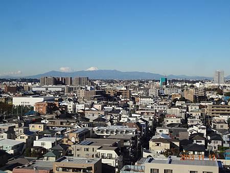 陽台外~覆雪的富士山 010.JPG