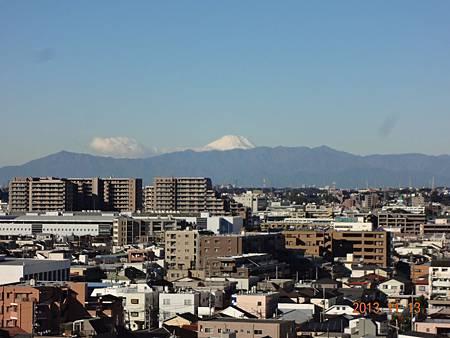 陽台外~覆雪的富士山 012.JPG