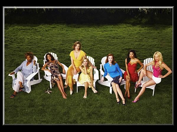 貝蒂(艾佛烈伍達 Alfre Woodard 飾)、蘇珊(泰瑞海契 Teri Hatcher 飾)、瑪莉艾莉絲楊(布蘭達史壯 Brenda Strong 飾)、莉奈(費麗西蒂荷夫曼 Felicity Huffman 飾)、布麗(瑪西亞克羅絲 Marcia Cross 飾)、嘉碧葉拉(伊娃朗格莉亞 Eva Longoria 飾)、伊蒂(妮可莉雪登 Nicollette Sheridan飾)