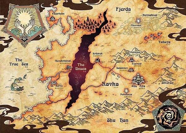 拉夫卡王國地圖